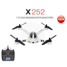 XK X252 2.4G 7CH 5.8G FPV 3D 6G RC Quadcopter RTF with 720P Wide-Angle HD Camera Brushless Motor VS HUBSAN H502S X4