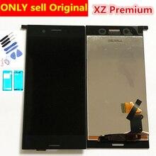 """מלא מקורי 5.5 """"3840*2160 תצוגה עבור SONY Xperia XZ פרימיום LCD מסך מגע Digitizer עצרת החלפת LCD g8142 G8141"""