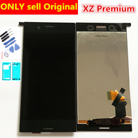 Full ORIGINAL 5.5 3840*2160 Display for SONY Xperia XZ Premium LCD Touch Screen Digitizer Assembly Replacement LCD G8142 G8141