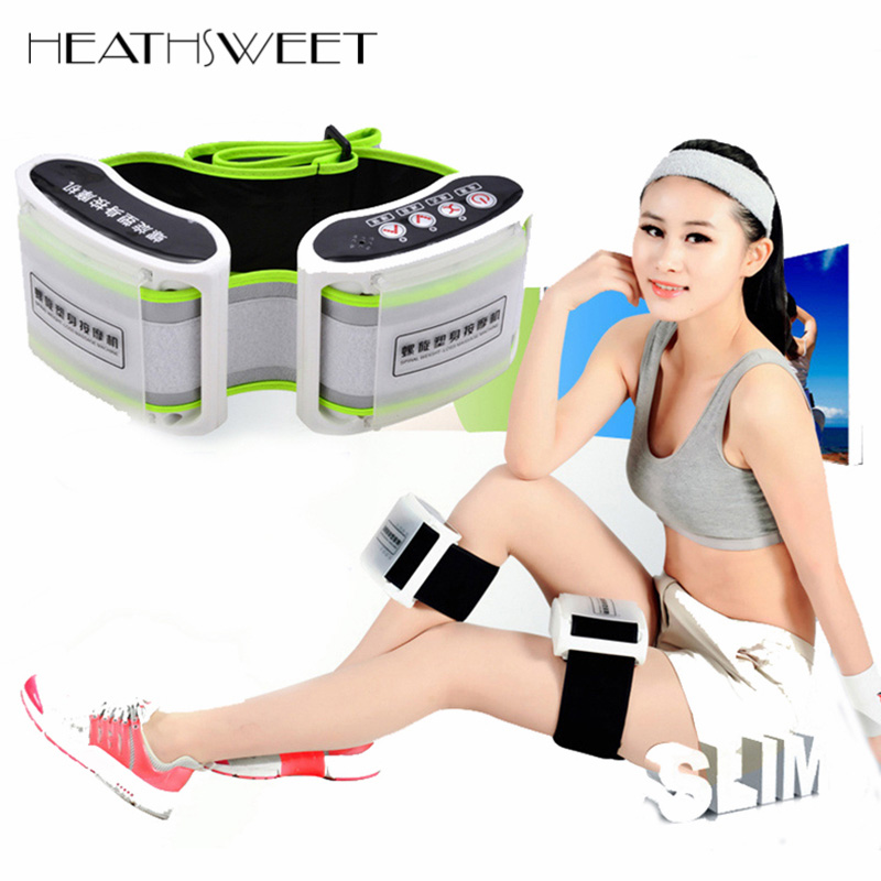 Healthsweet Weight Loss X5 Times Spiral Rejection of Fat Electric Body Massager Slimming Belt Wrap Thin Waist Vibration Massage retro flowering blossom pattern voile gossamer scarf