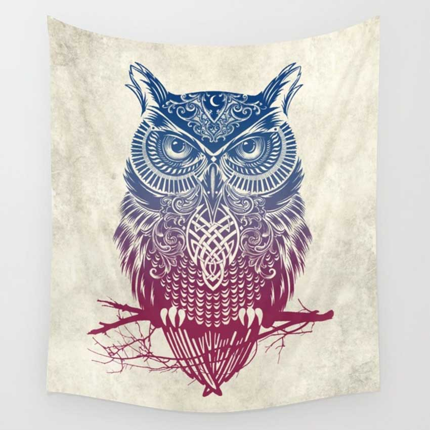 CAMMITEVER Feather Indian Wall Owl Deer Decor Beach Towel Tapestry Wall Hanging Forest Home Yoga Mat Color Bedspread-in Tapestry from Home & Garden