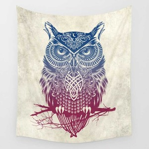 Image 1 - CAMMITEVER Feather Indian Wall Owl Deer Decor Beach Towel Tapestry Wall Hanging Forest Home Yoga Mat Color Bedspread