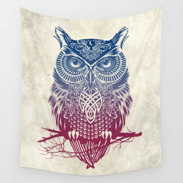 CAMMITEVER Feather Indian Wall Owl Deer Decor Beach Towel Tapestry Wall Hanging Forest Home Yoga Mat Color Bedspread