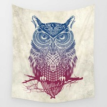 CAMMITEVER Feather Indian Wall Owl Deer Decor ręcznik plażowy Tapestry Wall Hanging Forest Home mata do jogi kolor narzuta