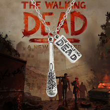 The Walking Dead Necklace Hot Movie Cudgel And Letter Logo Statement Choker Necklace Vintage Unisex Necklaces & Pendants Colar(China)