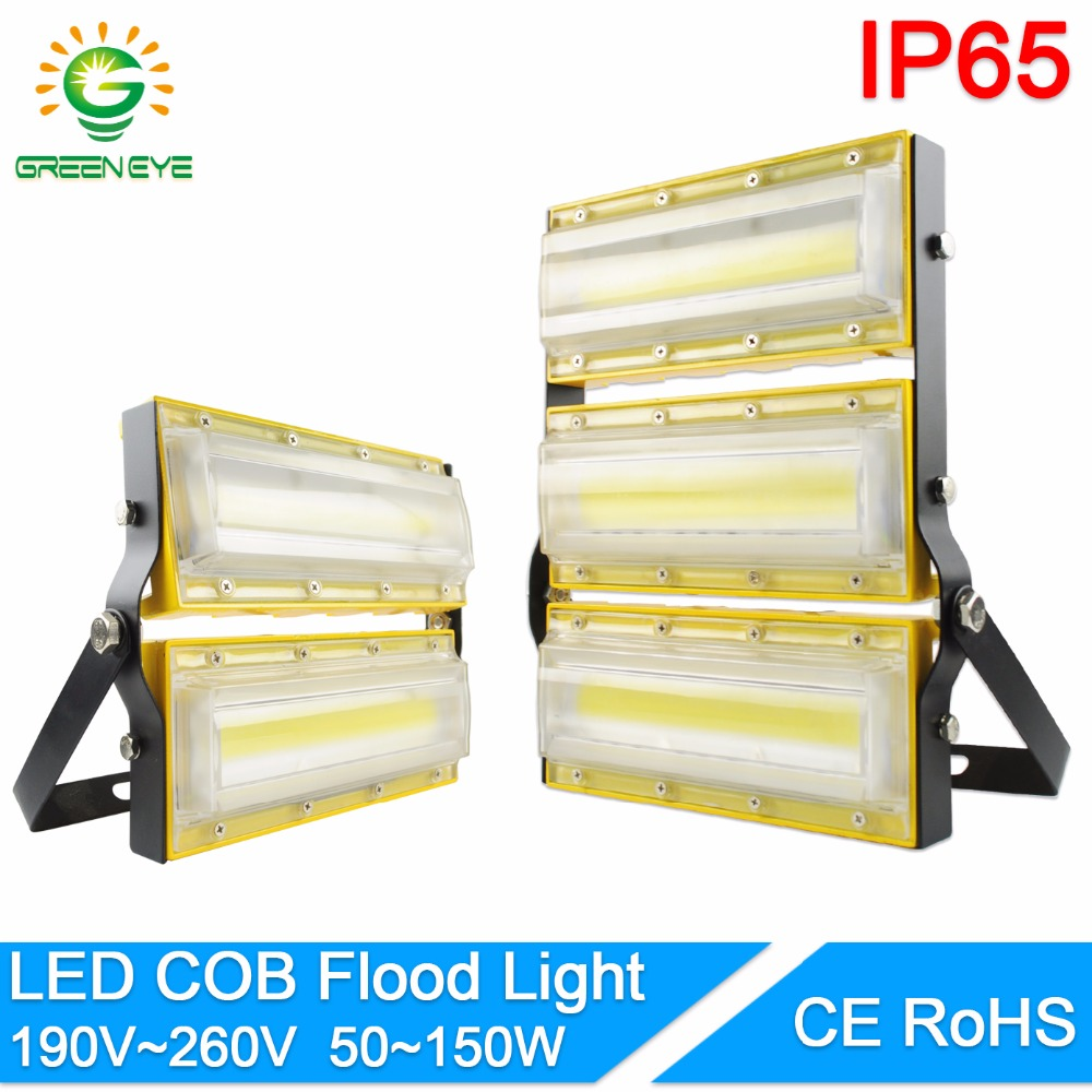 GreenEye LED flood light 50W 100W 150W cob led floodlight Waterproof IP65 AC190-260V outdoor mini spotlight garden Lamp lighting