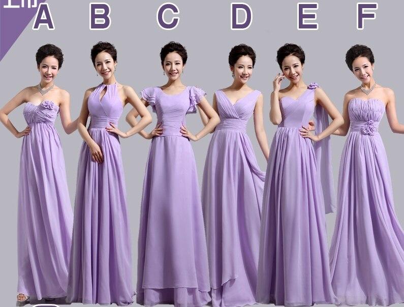 Floor length flowers pleat appliques 6 design long light purple mint ...