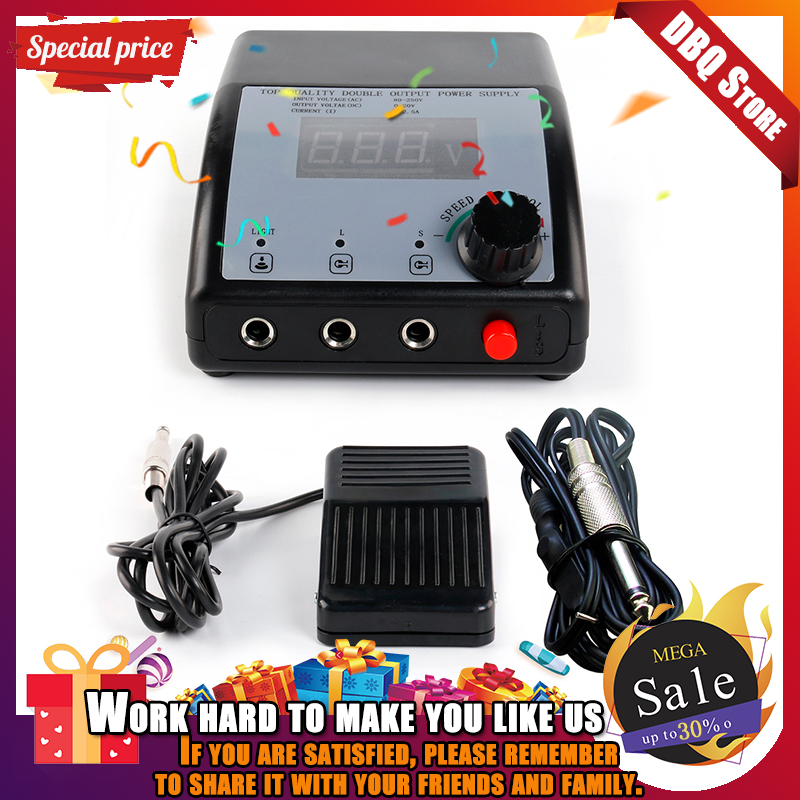 2019 New Tattoo Double Output Digital Tattoo Power Supply + Foot Pedal + Clip Cord Kit P102  High Quality Tattoo power supply2019 New Tattoo Double Output Digital Tattoo Power Supply + Foot Pedal + Clip Cord Kit P102  High Quality Tattoo power supply