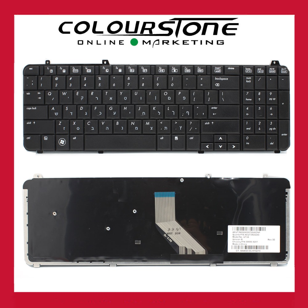 Genuine new HB Hebrew laptop Keyboard For HP DV6-T DV6-Z DV6-1000 DV6-2000 Small enter key AEUT3N00240