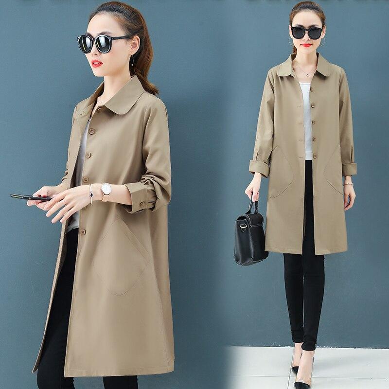 Coat Women Clothing Windbreakers Spring Long-Sleeve Korean-Fashion Ladies New 1268 Tide