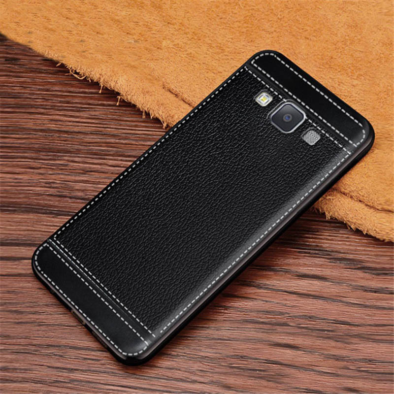 For Galaxy A8 2015 Case Litchi Texture Soft TPU Cover Fundas For <font><b>Samsung</b></font> Galaxy A8 2015 A800 <font><b>A8000</b></font> A800F Coque Etui Kryt image