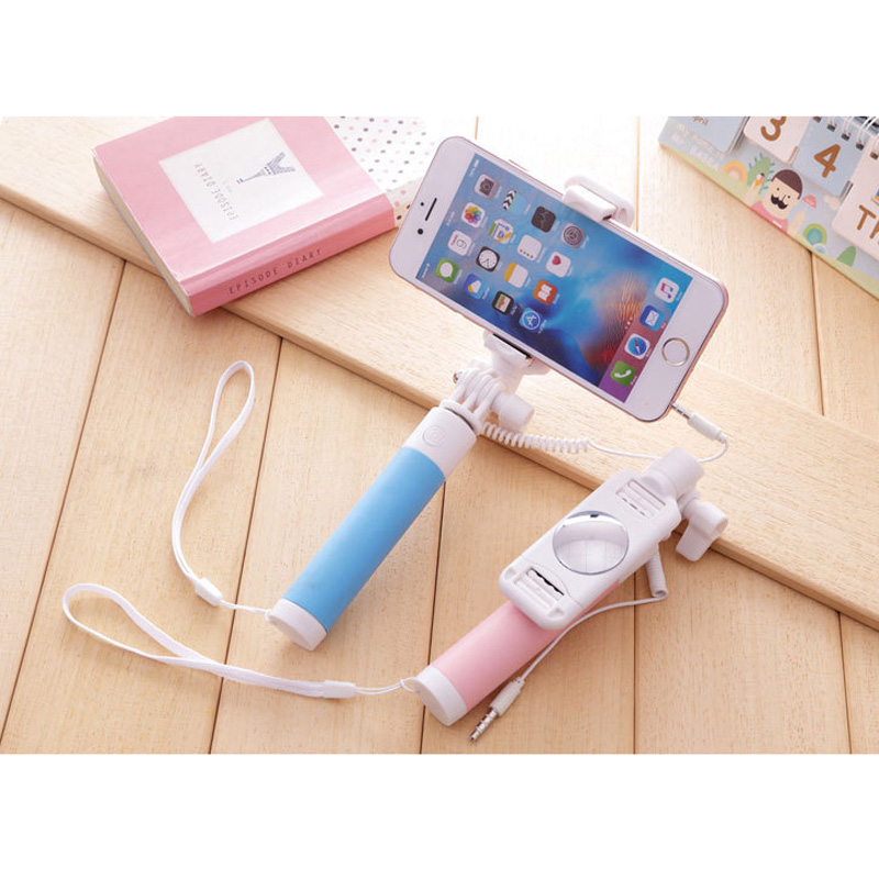 50045c95658426 Universal Selfie Stick For iPhone 5 5S SE 5C 6 6S Plus Monopod Wired Mini  Sport Selfie Stick For IOS Android Perche Selfi Stick-in Selfie Sticks from  ...