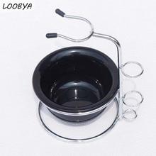 Kiváló minőségű rozsdamentes acél borotva kefe állvány razor tartó és borotválkozó krém tál