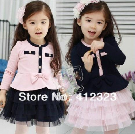 Baby Girl princess tutu Dress children girl's long sleeve fashion party dresses for autumn clothing