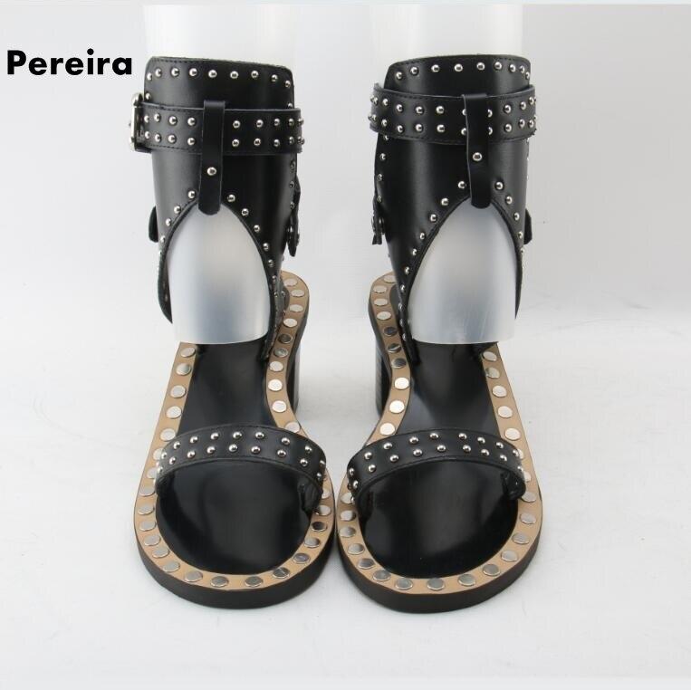 Chaussures Ouvert Bout Soirée Carré Noir En Bracelet Sandales Cuir Med Femme Rome De D'été Pieds Boucle As Picture Talon Nus xYP0q1qw