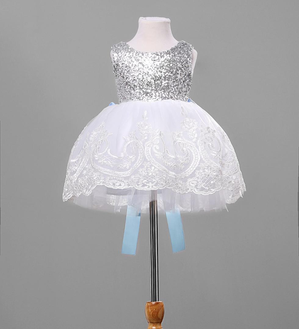 Girls princess Big bowknot girl dresses wedding pageant white girls toddler junior child dress sequin mesh party girl dress 0-9T