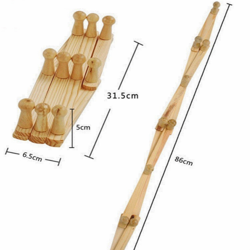 Image 2 - folding wood coat rack clothes rack stand hat clothing rack free shipping-in Coat Racks from Furniture
