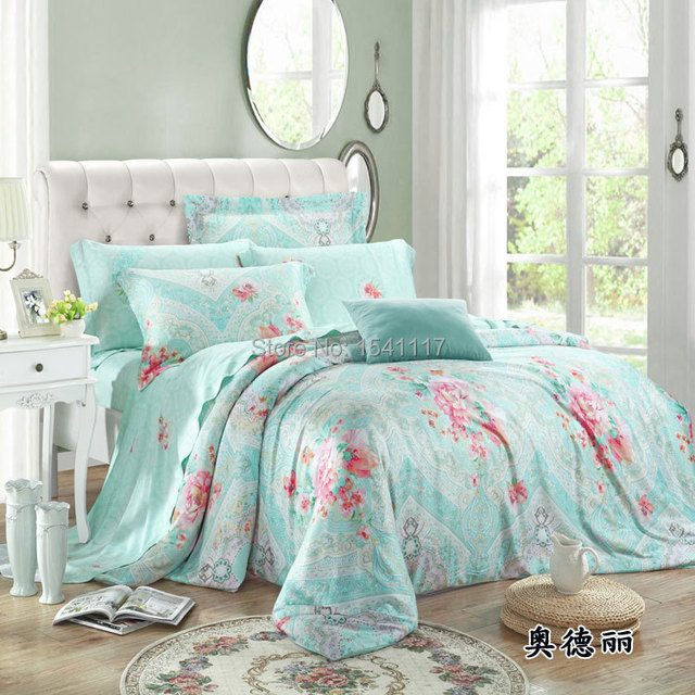 Ideal 4 piece youthful cherry blossom bedding set, girls romantic  BB91