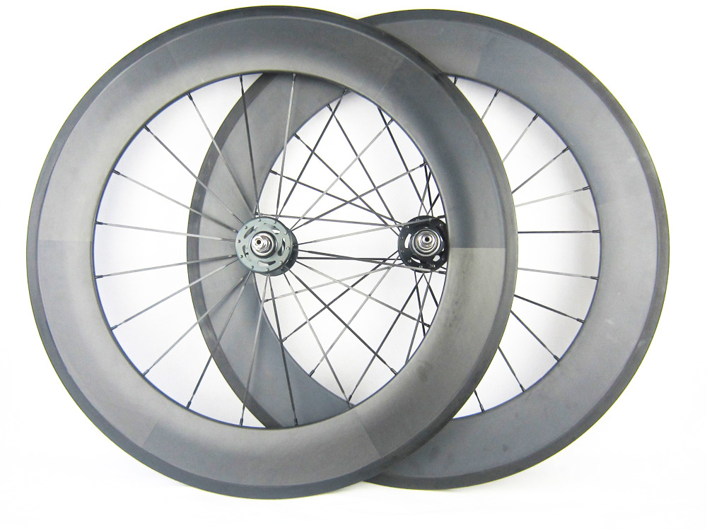 Free painting and shipping 88mm clincher tubular carbon track wheel single font b speed b font