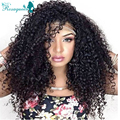 Brazilian Kinky Curly Virgin Hair Full Lace Human Hair Wigs With Baby Hair Front Lace Wigs Silk Top Wig 130% Density Rosa Queen