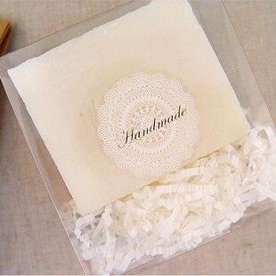 80Pcs White Lace Golden Hand Made Handmade Cake Packaging Sealing Label Kraft Sticker Baking DIY Work Gift Box Stickers M1108 клещи переставные kraftool kraft max 22011 10 25
