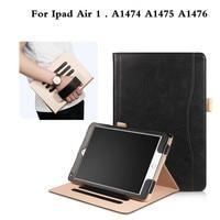 Luksusowe Stoisko Odwróć Pokrywa dla apple ipad air 1 Business case Folio PU Leather Case For ipad Air1 A1474 A1475 A1476 9.7 ''Tablet