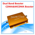 2014 New Model Gold CDMA/3G(CDMA/WCDMA) 850MHz/2100MHz Dual Band Mobile Signal Repeater cellular Phone Booster