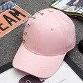 Women Black Pink White Fashion Pin Baseball Cap Snapback Caps Dad Hat Harajuku Hat For Men Gorras Bone Casquette