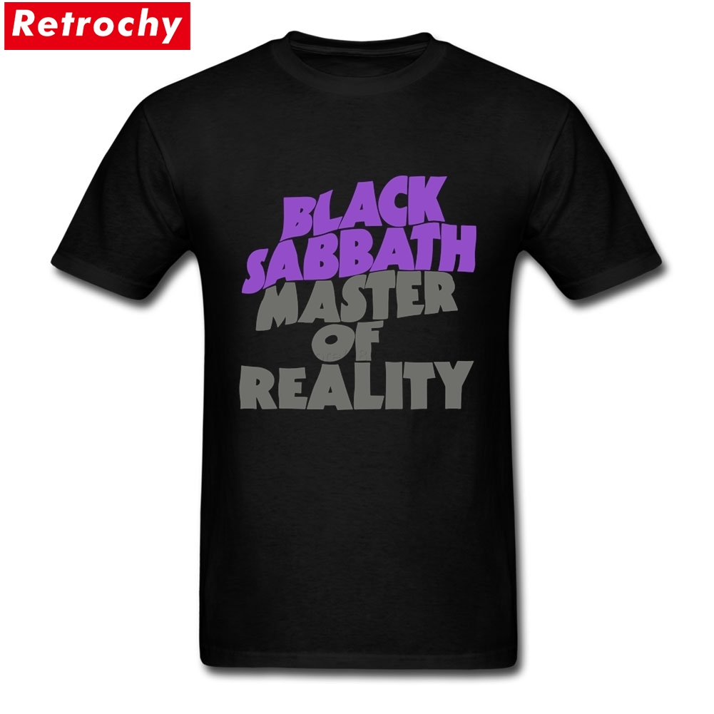 2017 Original Black Sabbath Master of Reality Metal Band Tour Tees Merch Mens Short Sleeve Fathers Day Cotton Guy Shirt 3XL