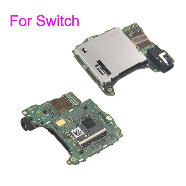Original Game Card slot with headset motherboard PCB Replacement repair parts For Nintend Switch NS Switch Game Console