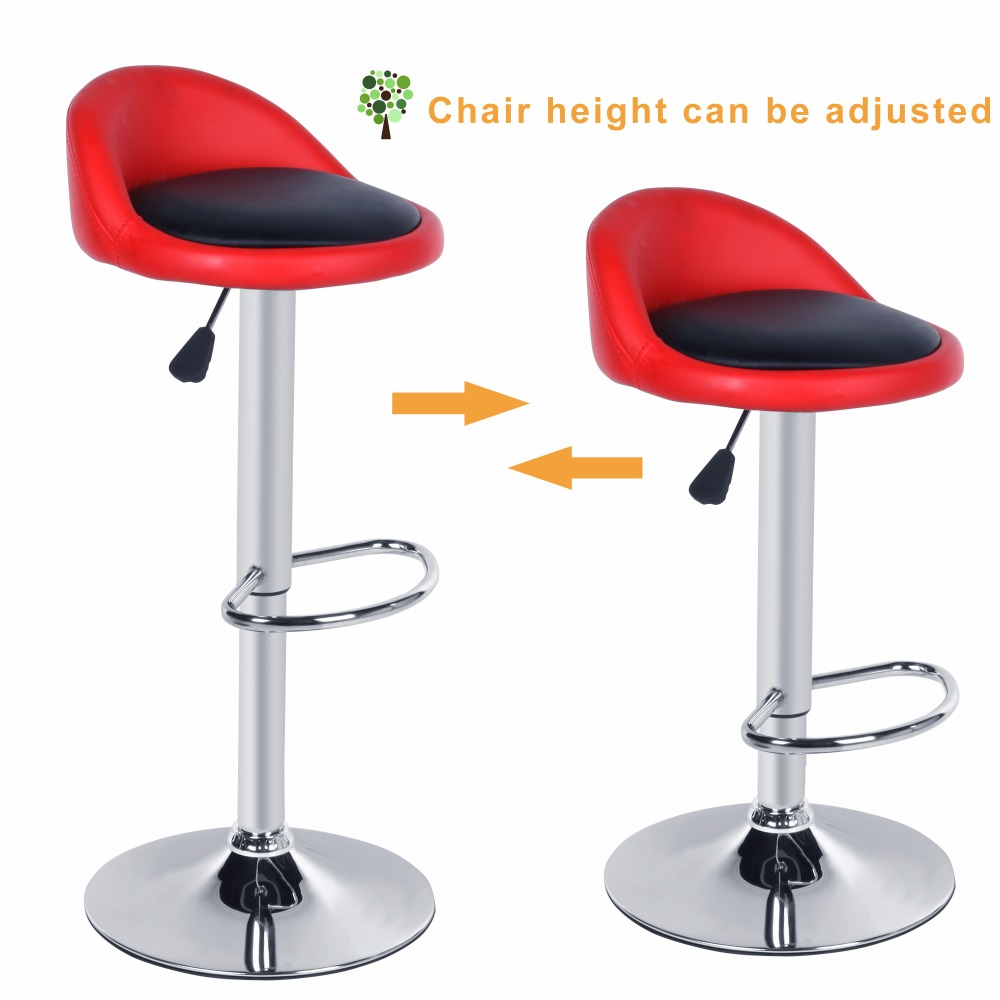 Homdox 2pcs Synthetic Leather Rotating Adjustable Height Bar Stool Chair  Stainless Steel Stent 4 Colors N20A In Bar Chairs From Furniture On  Aliexpress.com ...