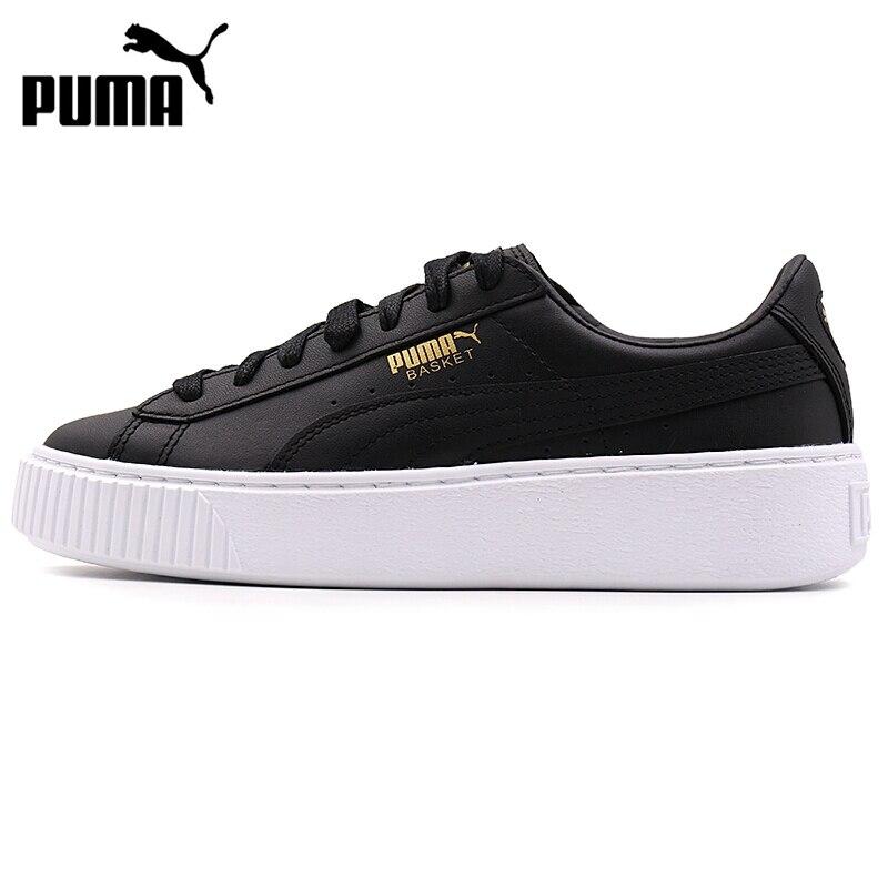 купить Original New Arrival 2017 PUMA  Basket Platform Core Women's  Skateboarding Shoes Sneakers онлайн