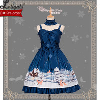 Little Fox Buying Gloves ~ Sweet Lolita dress Daily Sleeveless Dress by Magic Tea Party ~ Pre order