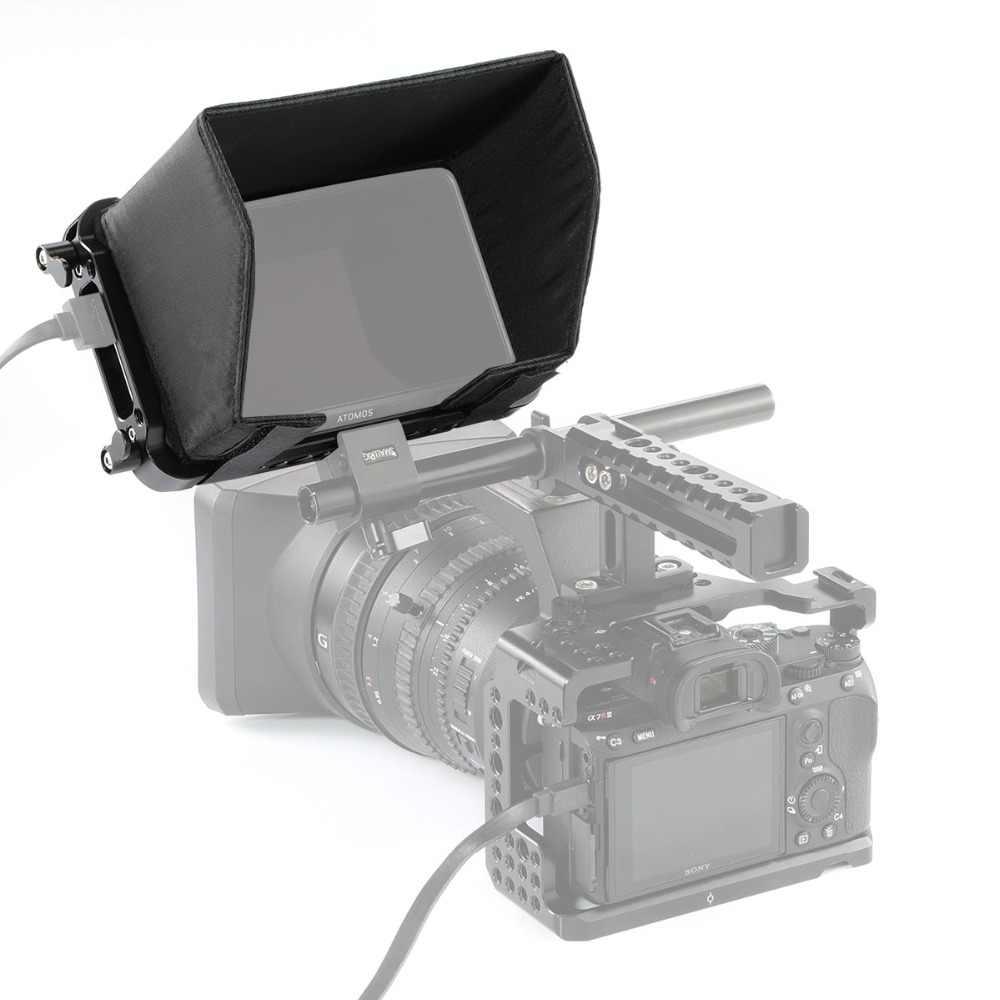 """Jaula de Monitor de grabación SmallRig 5 """"4K HDMI para Monitor Atomos Ninja V con abrazadera de Cable incorporada NATO railes HDMI-2209"""