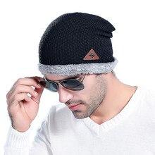 Terciopelo gorros invierno hombre del sombrero gorros de lana al aire libre  skullies sombreros para hombres ce3898c1f1f