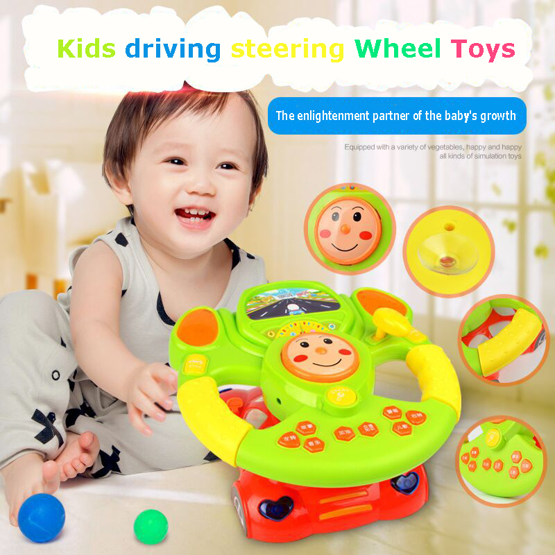HUILE TOYS 916 Baby Toys Driving Steering Wheel & Equipped with