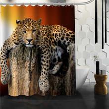 Best Nice Custom Leopard Shower Curtain Bath Waterproof Fabric For Bathroom MORE SIZE 165X180cm