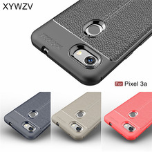 For Google Pixel 3a Case Luxury PU leather Rubber Soft Silicone Phone Back Cover