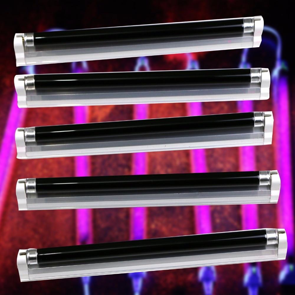 6 AMERICAN DJ BLACK- BLB  UV Black Pro Blacklight Dorm Party Light Fixtures 8W With Fixture Cord