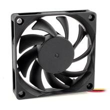 Hot 70X70 Mm 12V 3-Pin PC CPU Case Komputer DC Brushless Cooler Fan Hitam(China)