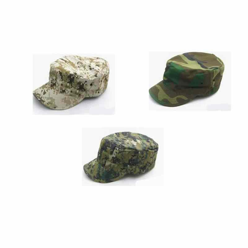 online retailer 015b8 20dd8 2018 Hot Sale Army Military Camouflage Cap Airsoft Hunting Outdoor Baseball  Hat Flat Top Soldier Hats