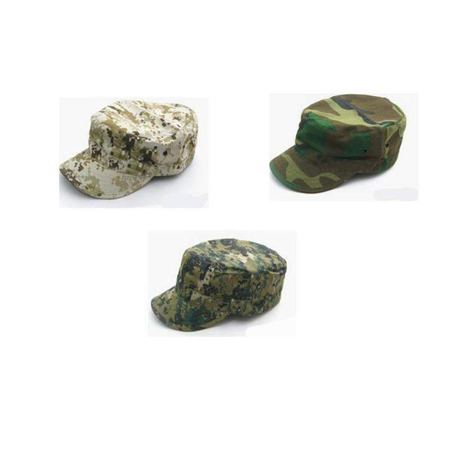 d18931f17e0 2018 Hot Sale Army Military Camouflage Cap Airsoft Hunting Outdoor Baseball Hat  Flat Top Soldier Hats