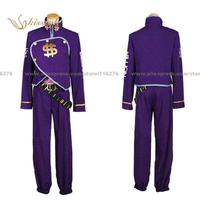 Kisstyle Fashion JoJo je Bizarní dobrodružství Okuyasu Nijimura Purple Uniform Cosplay Oblečení Cos Kostým