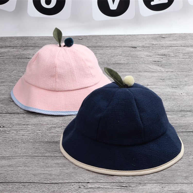 989fa1c05ab Baby children s cotton bowl hat baby boy and girl fisherman hat spring and autumn  children travel