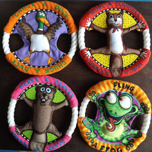 Funny animal-themed frisbee for Yorkie molar tooth cleaning