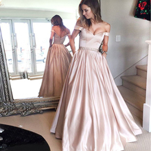 Bbonlinedress Pink Prom Dress with Pockets High Quality Evening 2019 New Arrival Beading Gowns Vestido de noche