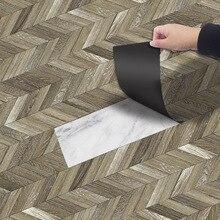 Thicking PVC impermeable Vintage Deep Gray grano de madera autoadhesivo pegatina de suelo para baño cocina hogar Decoración de pared pegatinas