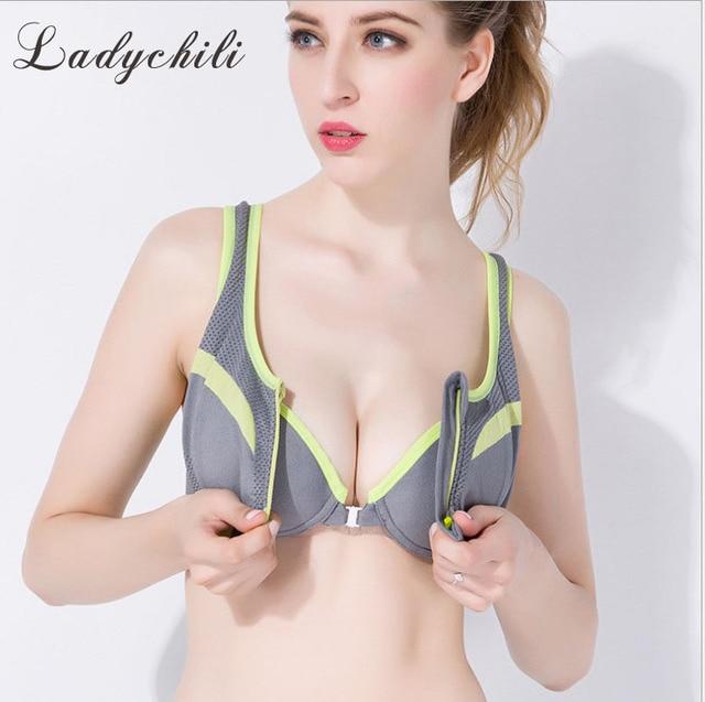 Women Push Up Bra Front Closure Bra For Open Front Zip Brassiere Seamless  Thin Bra Sugan Gather Bra Vest Underwear D61 71ed2087d8