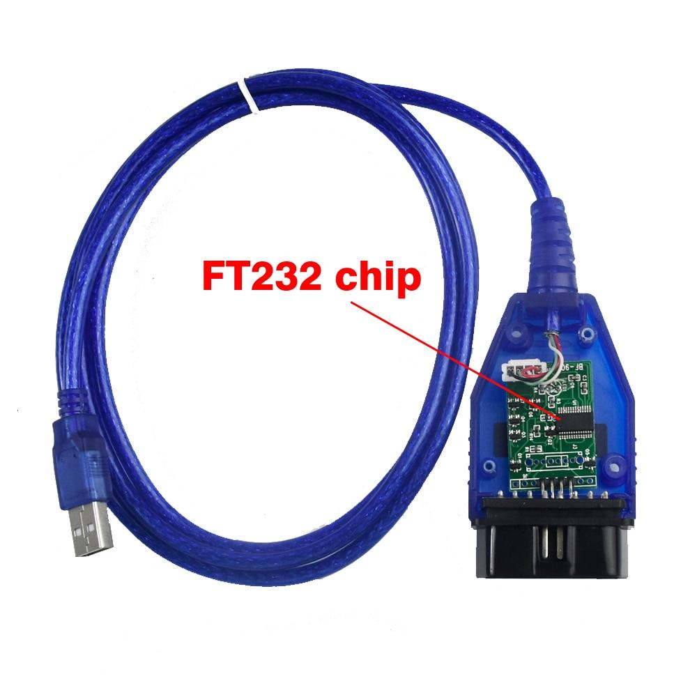 цена на OBD2 OBDII VAG 409 with FT232 USB 409.1 USB KKL Cable Interfac OBD Diagnostic Interface For Audi for VW