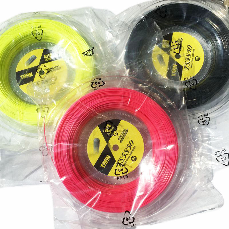 1 bobine TAAN TS5850 De Tennis cordes Spin polyester 10-angle dur-ligne cordes 1.20mm raquette de tennis chaîne 200 M big banger